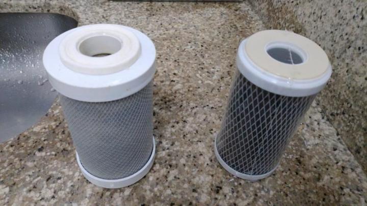 Elementos filtrantes para água