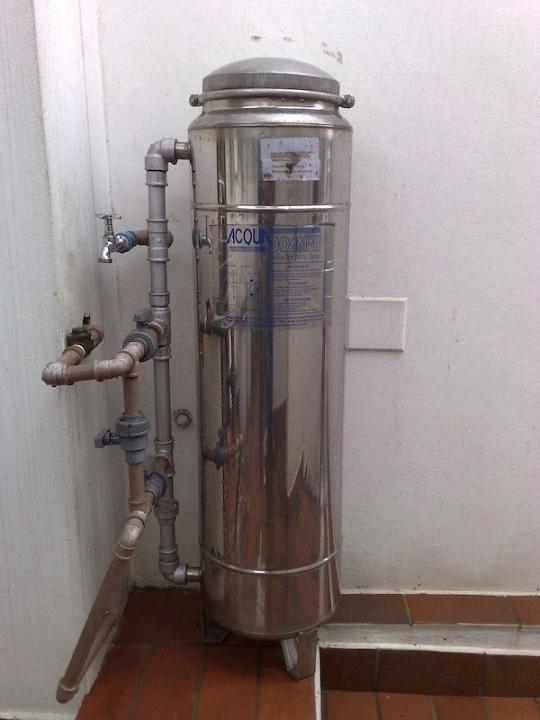 Filtro central de agua