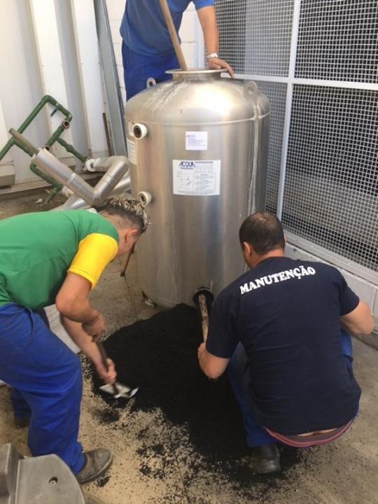 Manutenção filtro central de água